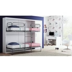Piętrowe poziome Łóżko w szafie 2 x 80cm x 190cm
