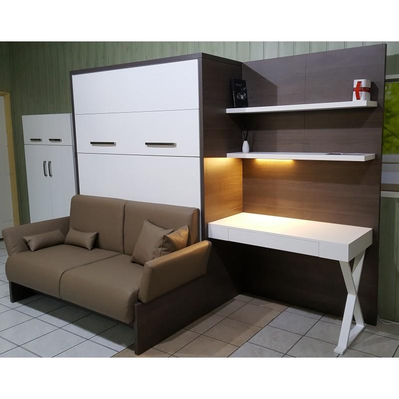 łóżko W Szafie Soft Z Sofą