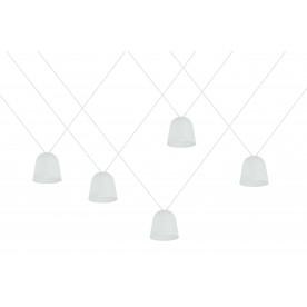 Zestaw wiszących eleganckich okrągłych lamp, model TOCCA
