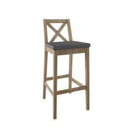 Drewniane krzesło Barowe 4