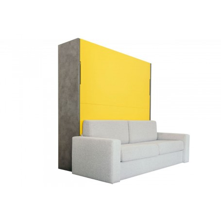 Łóżko w szafie pionowe z SOFĄ