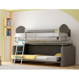 Łóżko w sofie poziome piętrowe