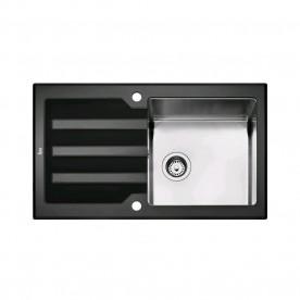 TEKA LUX 1B 1D 86 Black/White 86 zlewozmywak